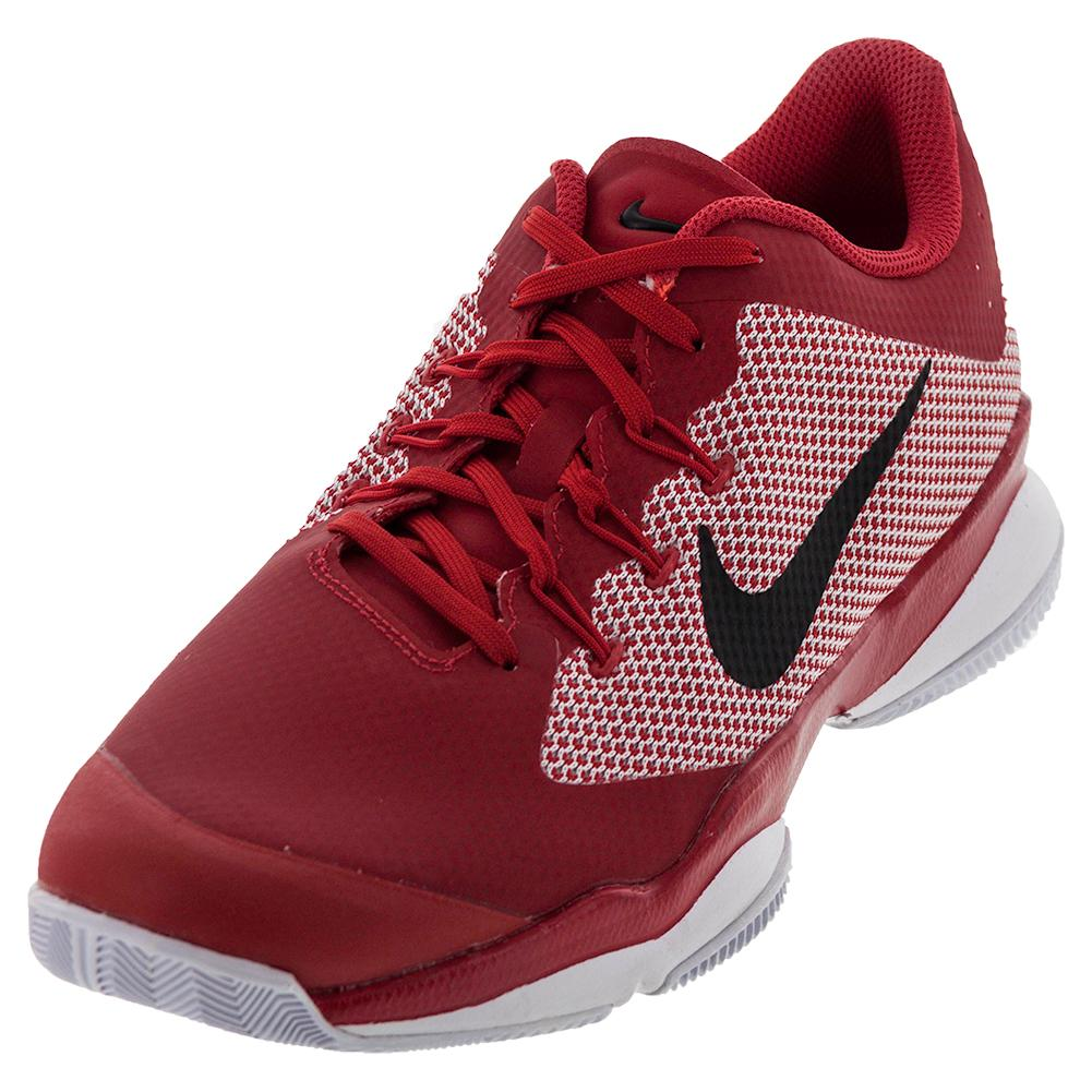 Men's Air Zoom Ultra Tennis Shoes University Red And Black