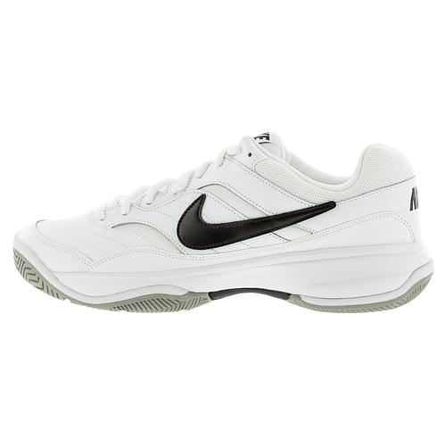 9b2966db9fffa NIKE NIKE Men s Court Lite Tennis Shoes White And Medium Gray. Zoom. Hover  to zoom click to enlarge. 360 View