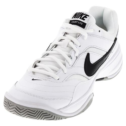 NIKE NIKE Men's Court Lite Tennis Shoes White And Medium Gray