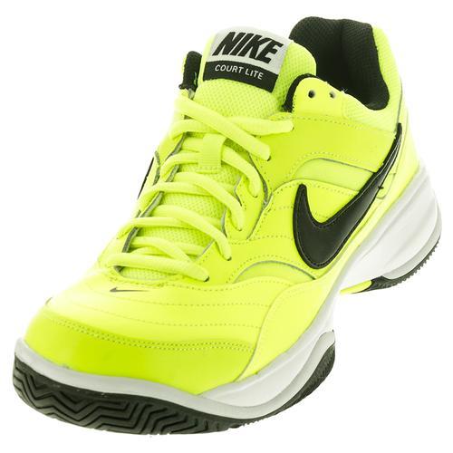 Men's Court Lite Tennis Shoes Volt And White