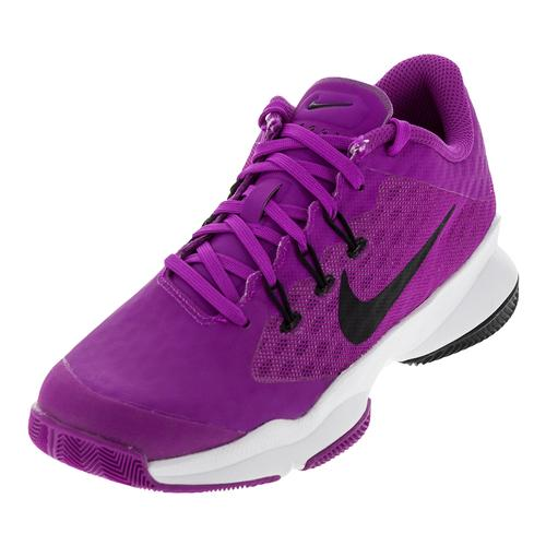 Women's Air Zoom Ultra Tennis Shoes Hyper Violet And White