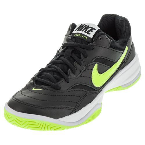 Women's Court Lite Tennis Shoes Black And Volt