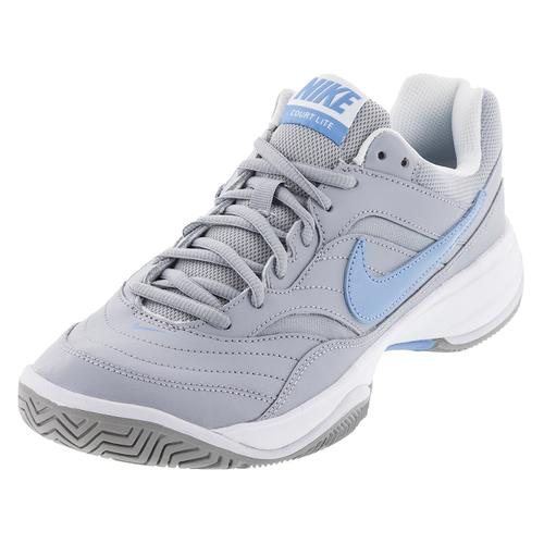 Women's Court Lite Tennis Shoes Wolf Gray And White