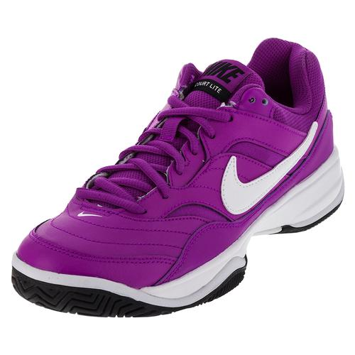 Women's Court Lite Tennis Shoes Hyper Violet And White