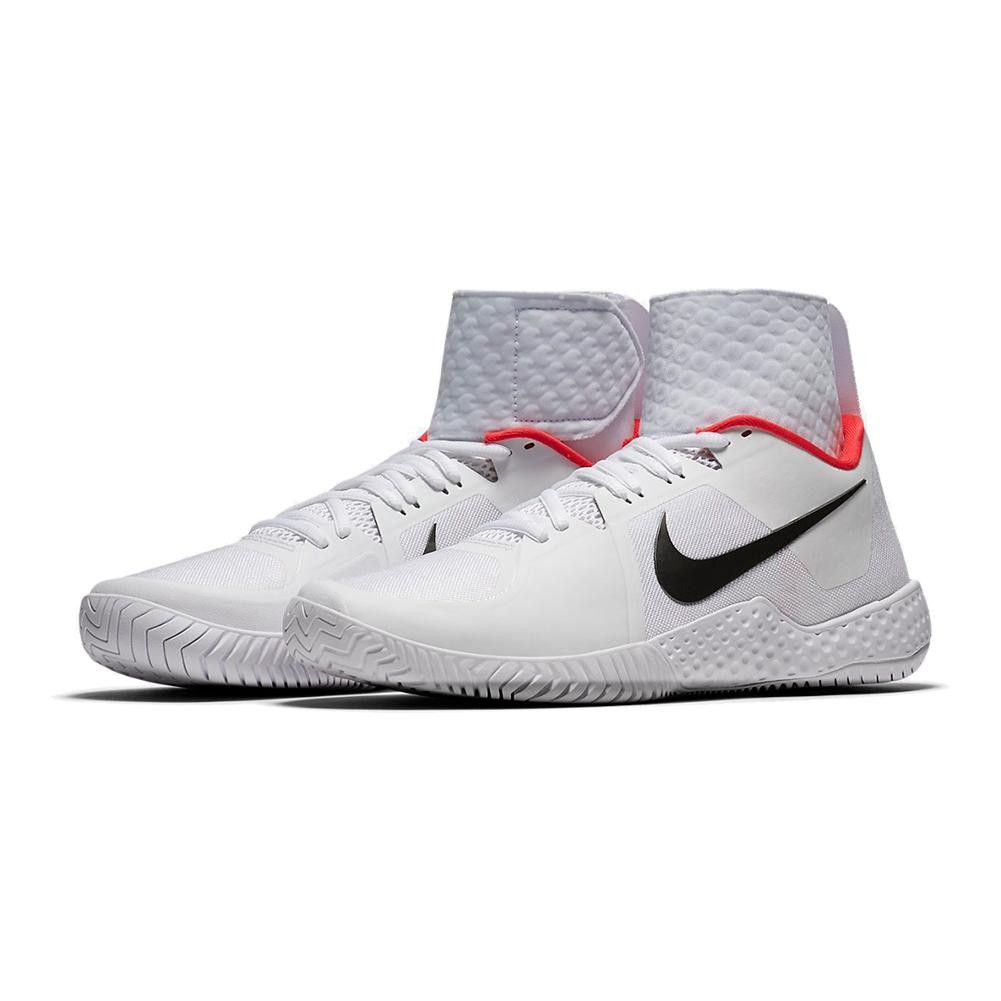 NIKE NIKE Women's Flare Qs Tennis Shoes White And Dark Gray