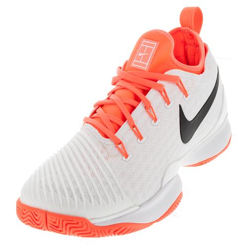 fdfa0c6a2ed1 Nike Women s Air Zoom Ultra React Tennis Shoes White and Hyper Orange