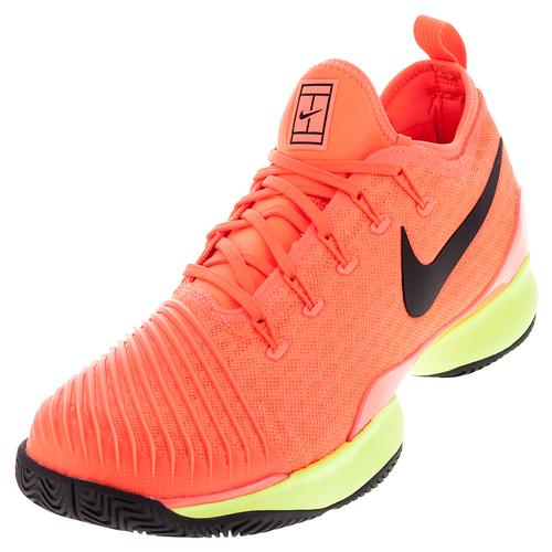 Men's Air Zoom Ultra React Tennis Shoes Hyper Orange And Volt