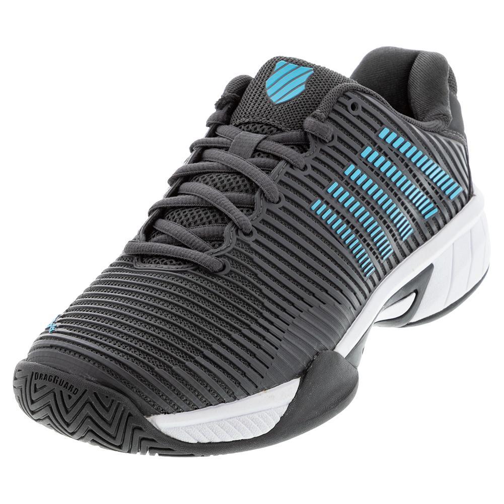 Juniors ` Hypercourt Express 2 Tennis Shoes Dark Shadow And Scuba Blue