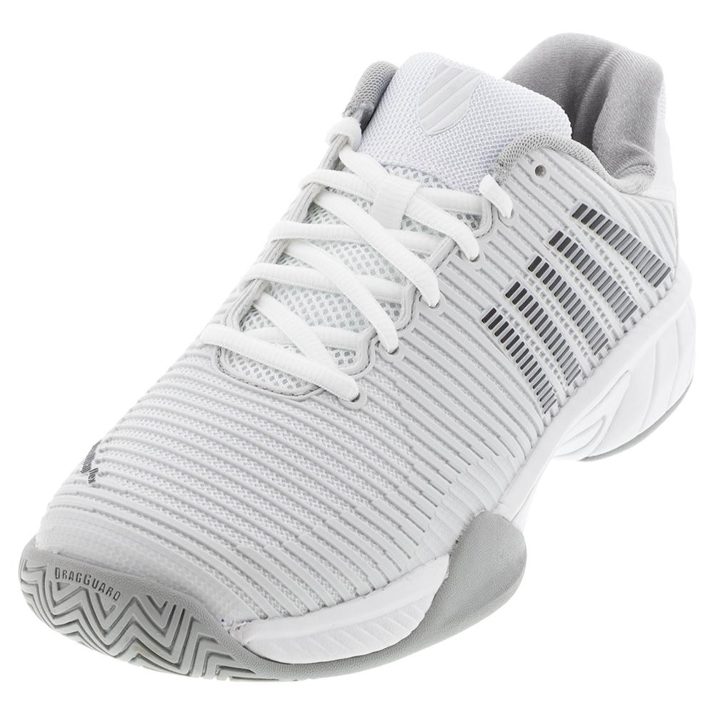 Juniors ` Hypercourt Express 2 Tennis Shoes Barely Blue And White