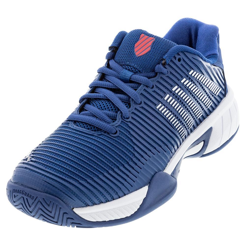 Juniors ` Hypercourt Express 2 Tennis Shoes Dark Blue And White