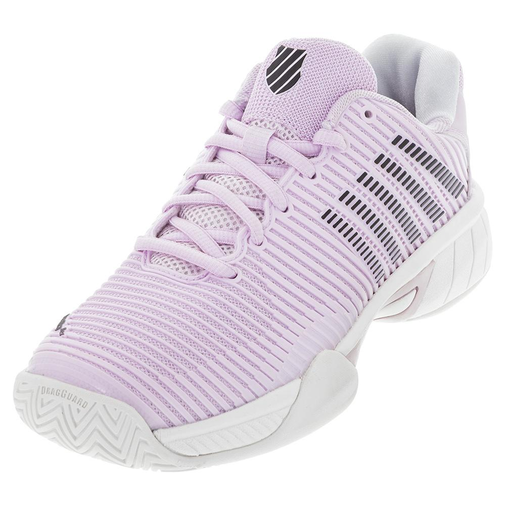 Juniors ` Hypercourt Express 2 Tennis Shoes Orchid Ice And Black