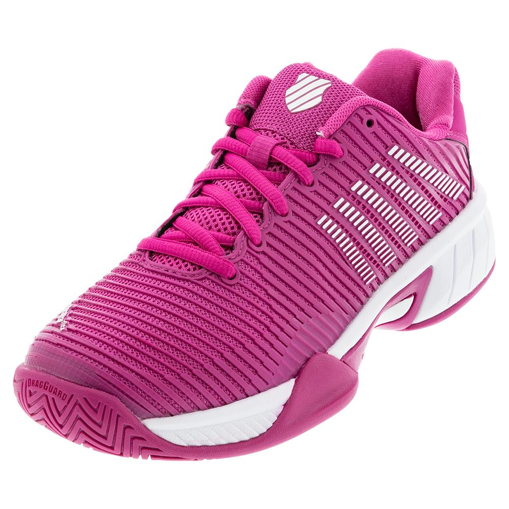 Juniors ` Hypercourt Express 2 Tennis Shoes Cactus Flower And White