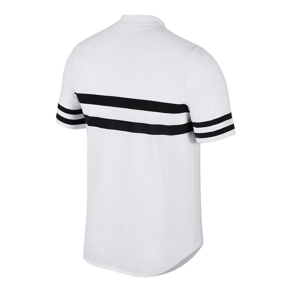 b2e1a97da51 Nike Men s Court Advantage Tennis Polo (Black   White White   Black)