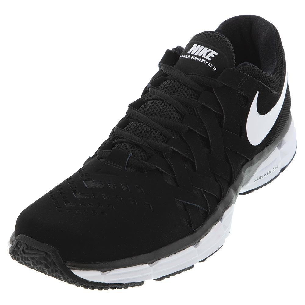 Men's Lunar Fingertrap Training Shoes Black And White