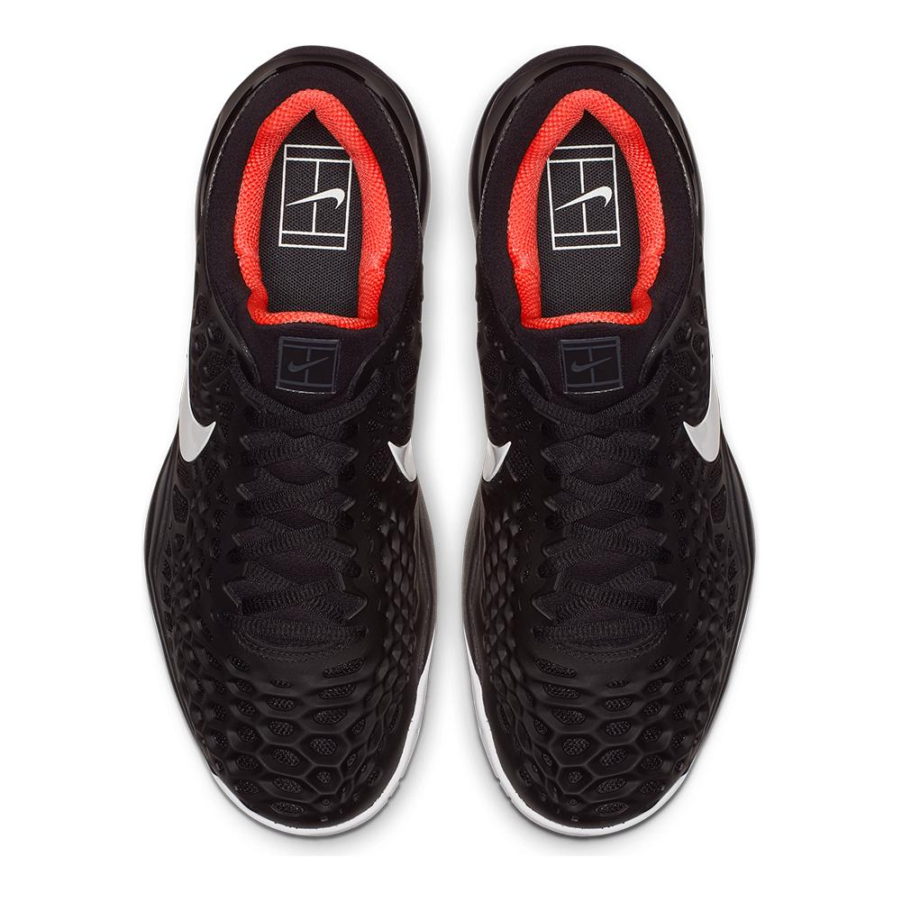 new concept 47fbd f585e Men s Zoom Cage 3 Clay Tennis Shoes Black And White. Hover to zoom click to  enlarge. 360 View