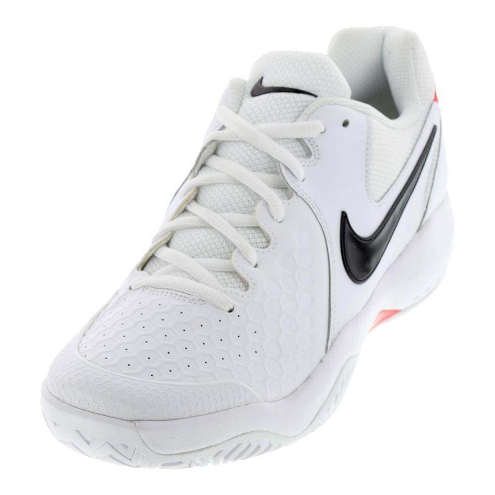 e3aabe538564 NIKE NIKE Men s Air Zoom Resistance Tennis Shoes White And Black