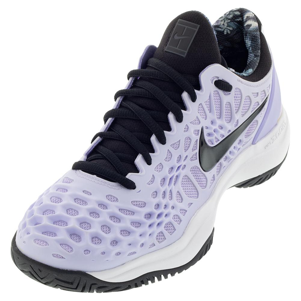 Women's Zoom Cage 3 Tennis Shoes Purple Agate And Black