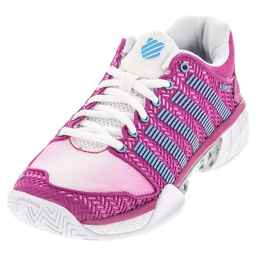 Women's Hypercourt Express Tennis Shoes White And Very Berry