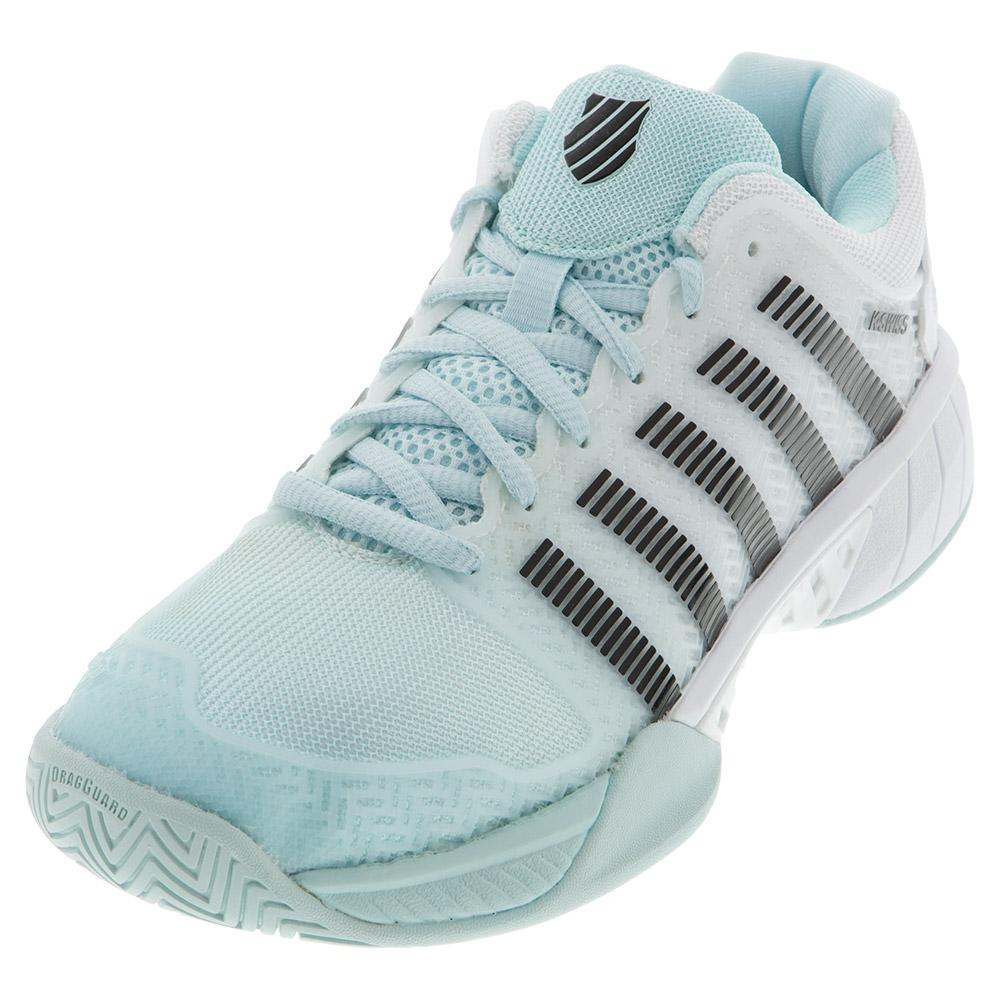 Women's Hypercourt Express Tennis Shoes Pastel Blue And Black