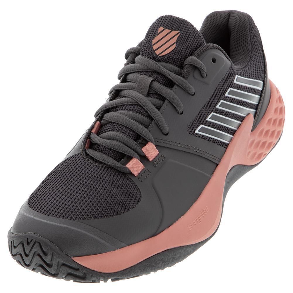 Women's Aero Court Tennis Shoes Plum Kitten And Coral Almond
