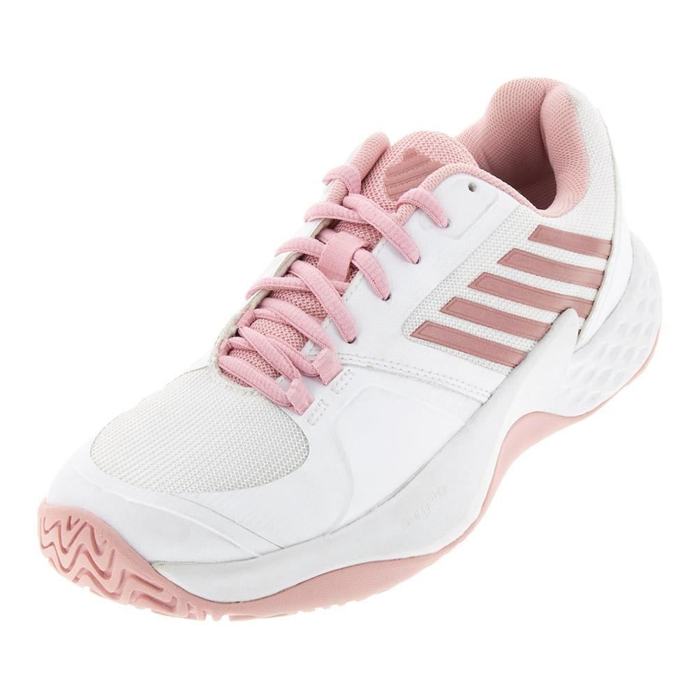 Women's Aero Court Tennis Shoes White And Coral Blush
