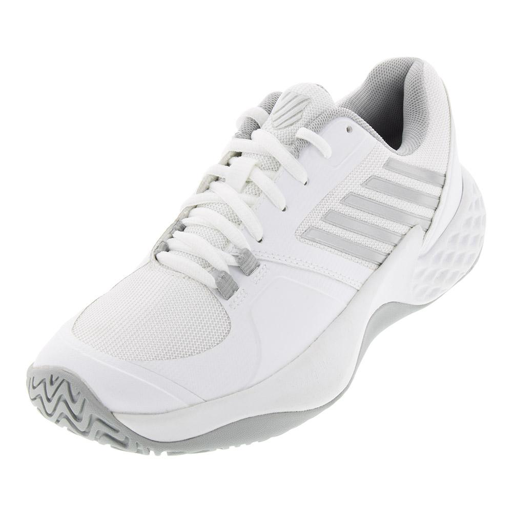Women's Aero Court Tennis Shoes White And Silver