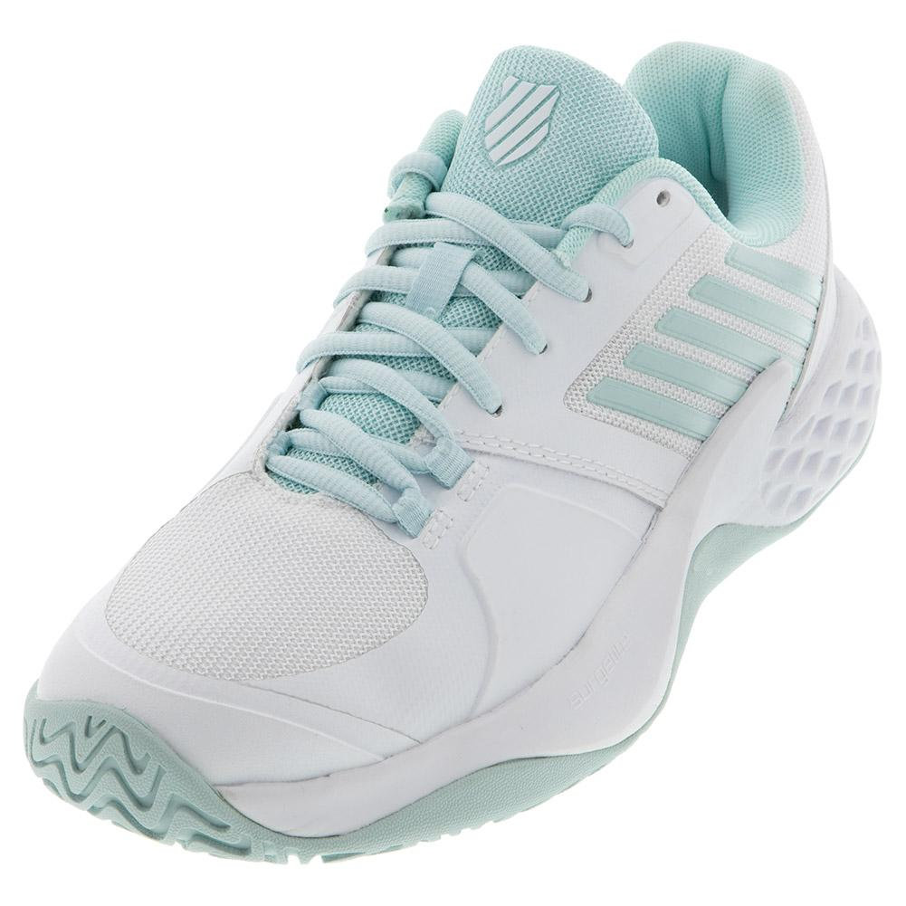 Women's Aero Court Tennis Shoes Pastel Blue And White