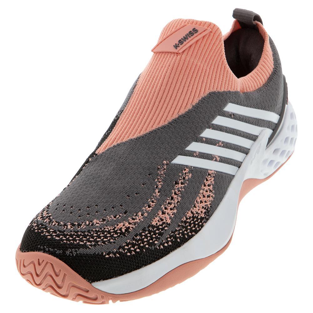 Women's Aero Knit Tennis Shoes Plum Kitten And Coral Almond