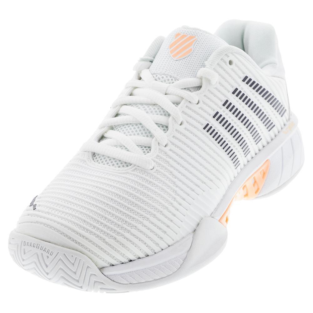Women's Hypercourt Express 2 Tennis Shoes White And Peach Nectar