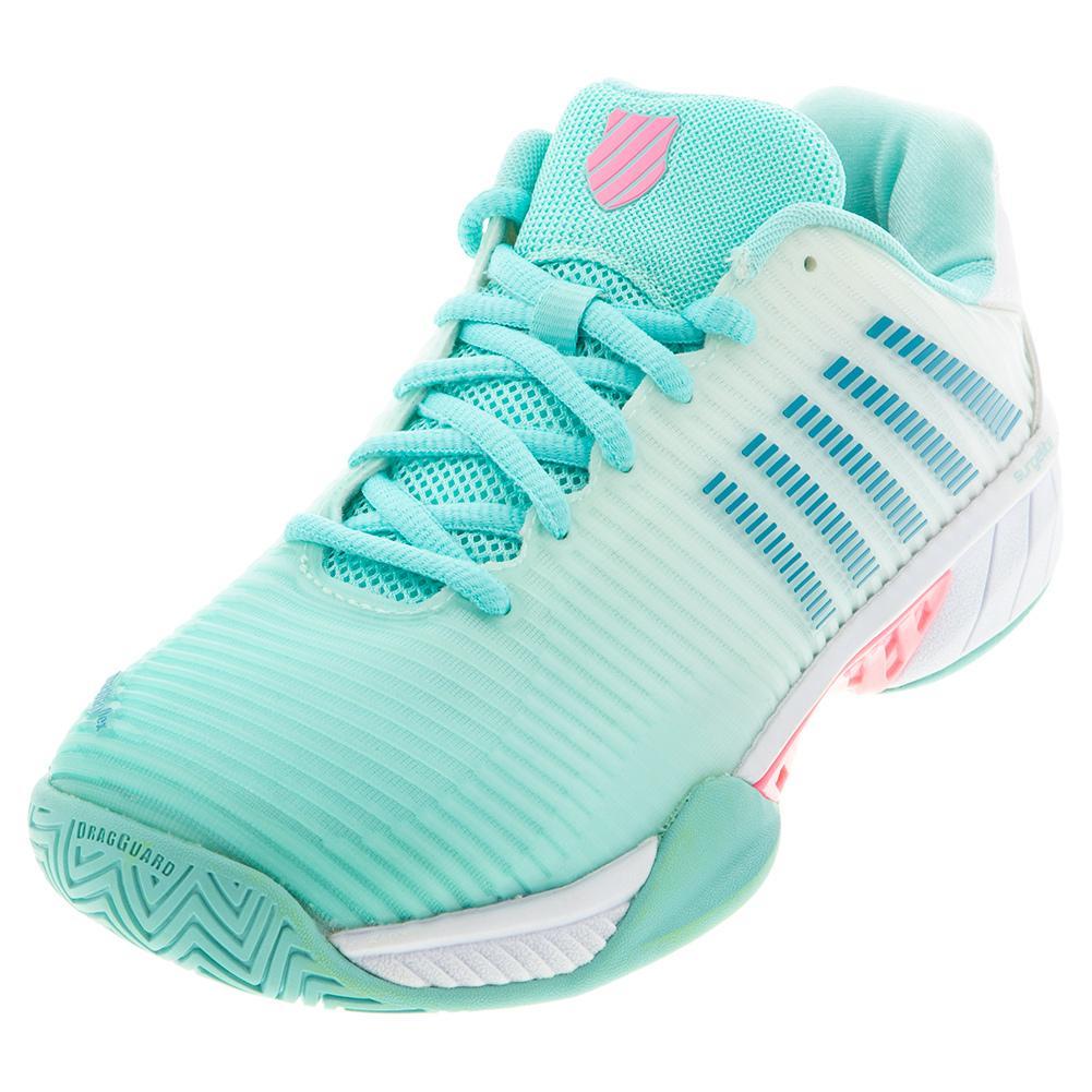 Women's Hypercourt Express 2 Tennis Shoes Aruba Blue And White