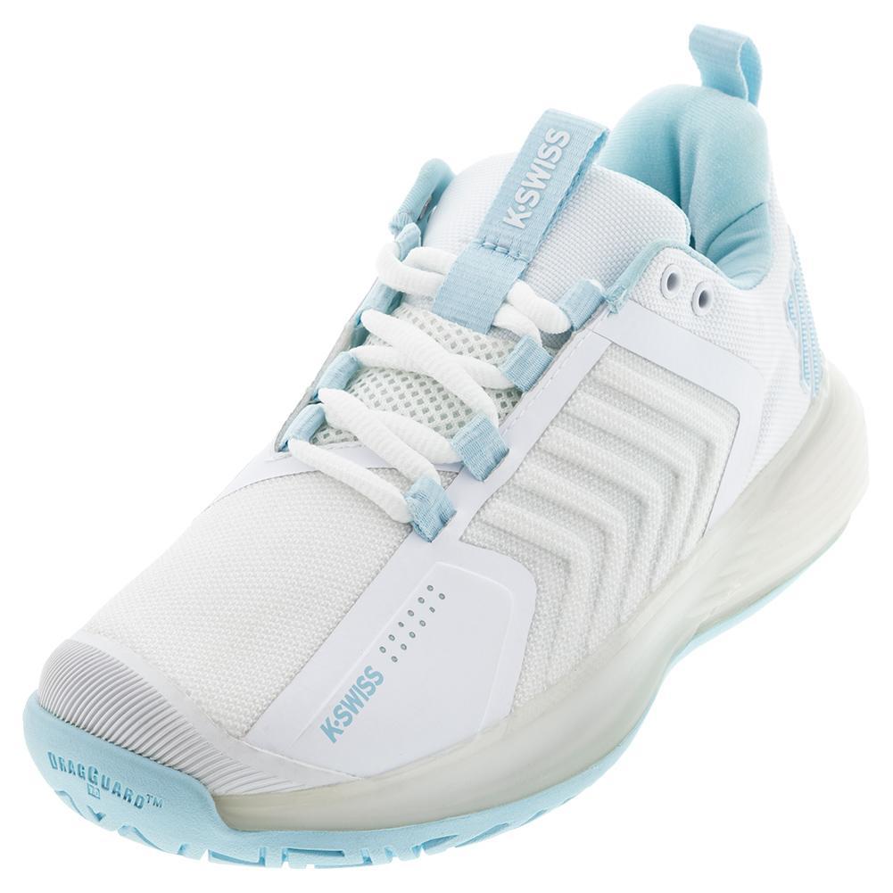 Women's Ultrashot 3 Tennis Shoes White And Blue Glow