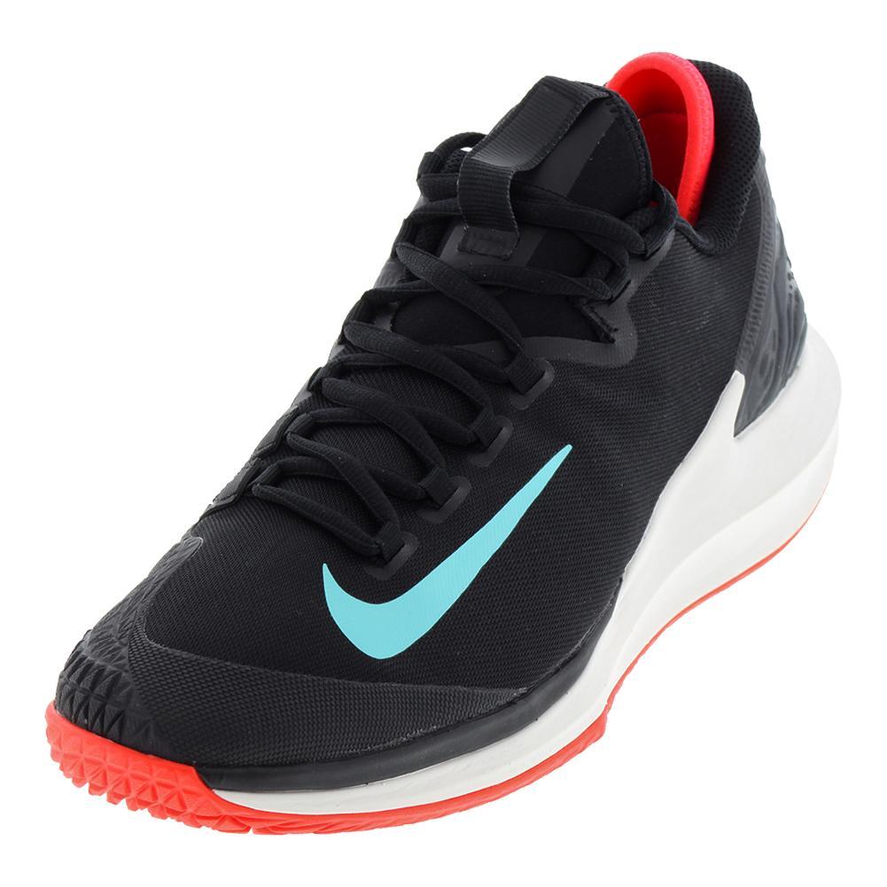 Men's Court Air Zoom Zero Tennis Shoes Black And Phantom