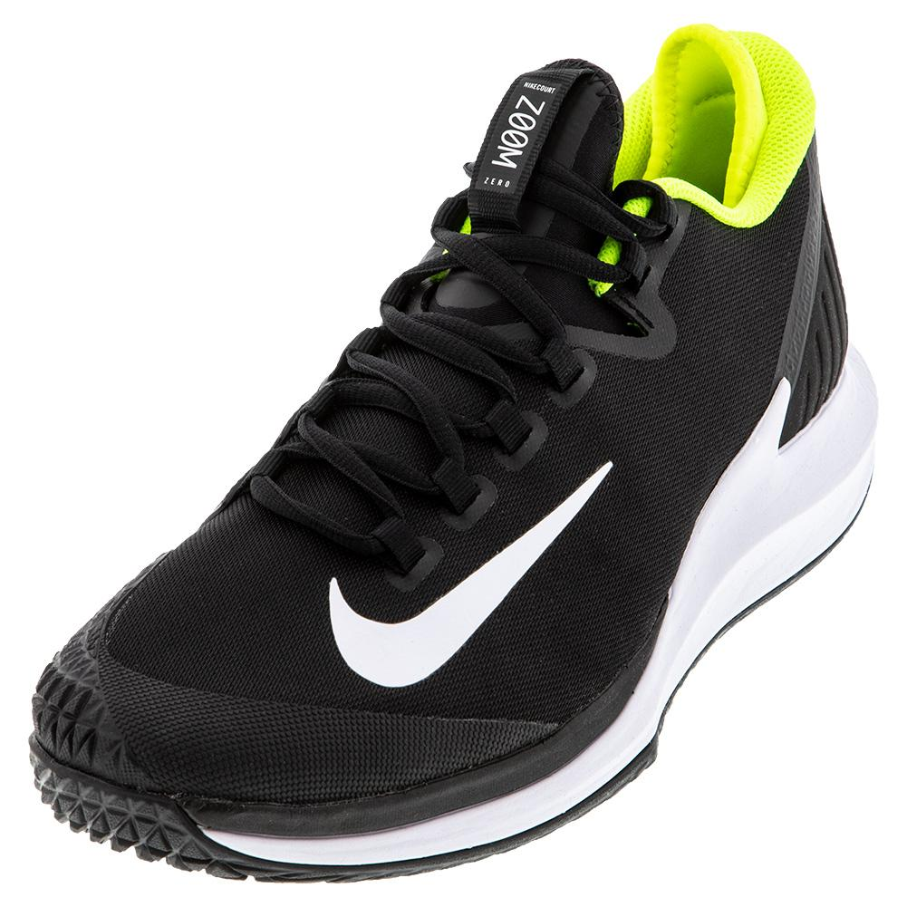Men's Air Zoom Zero Tennis Shoes Black And White