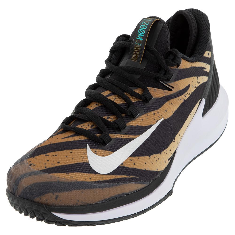 Men's Court Air Zoom Zero Tennis Shoes Wheat And Metallic Silver