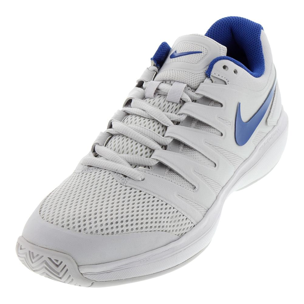 on sale aa5fb 0d66a NIKE NIKE Mens Air Zoom Prestige Tennis Shoes Vast Gray And Indigo Force