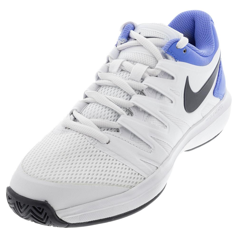 Men's Air Zoom Prestige Tennis Shoes White And Royal Pulse