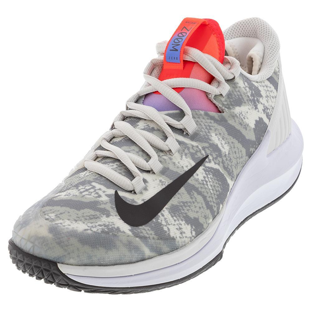 Women's Air Zoom Zero Tennis Shoes Platinum Tint And Thunder Grey