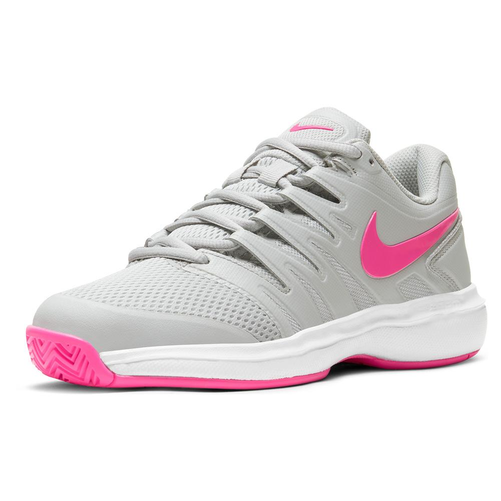 Women's Court Air Zoom Prestige Tennis Shoes Grey Fog And Pink Blast