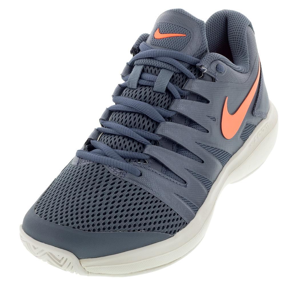 f6f4efb9892d Nike Women s Air Zoom Prestige Tennis Shoes Metallic Blue Dusk and Bright  Mango