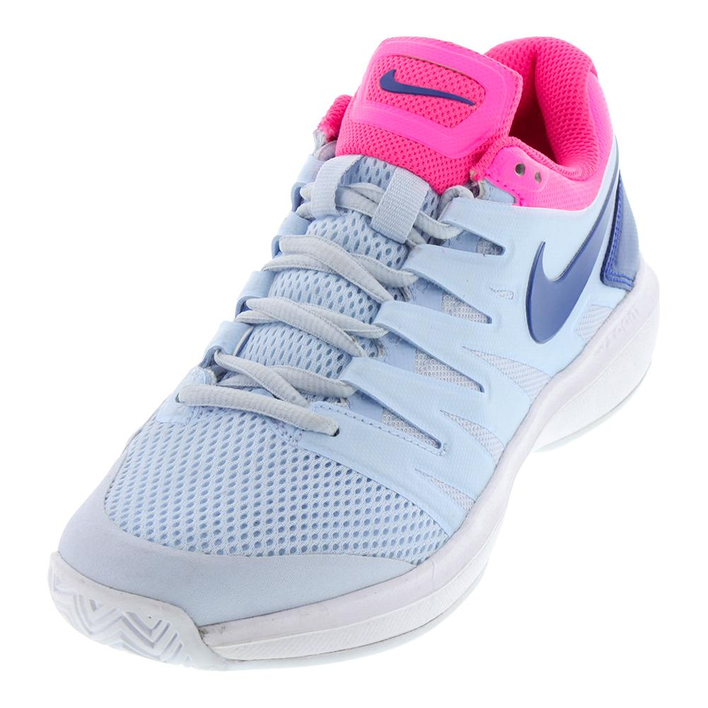 e059116a780 Nike Women s Air Zoom Prestige Tennis Shoes Half Blue and Indigo Force