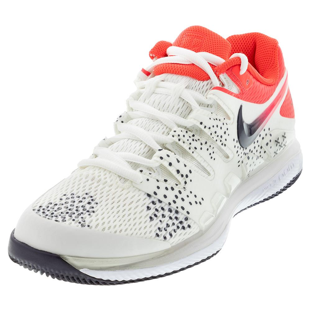 Women's Air Zoom Vapor X Tennis Shoes Summit White And Laser Crimson