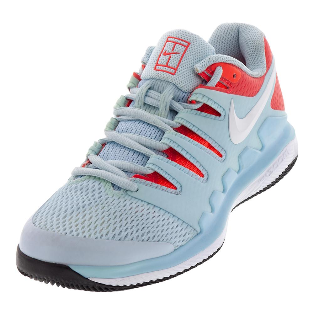 the best attitude 09595 2501b Nike Women s Air Zoom Vapor X Tennis Shoes Still Blue and White