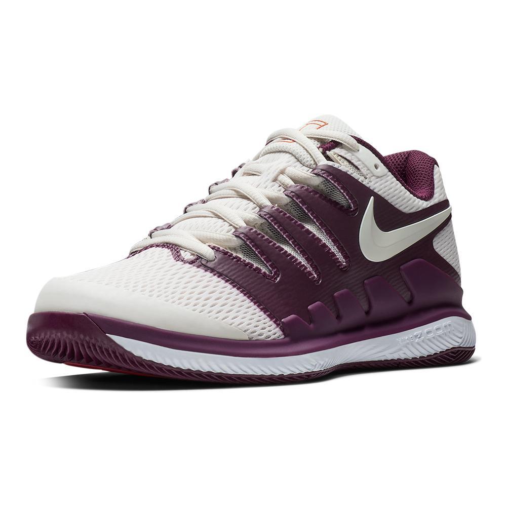 980e0660c5e30 Nike Women s Air Zoom Vapor X Tennis Shoes Bordeaux and Phantom