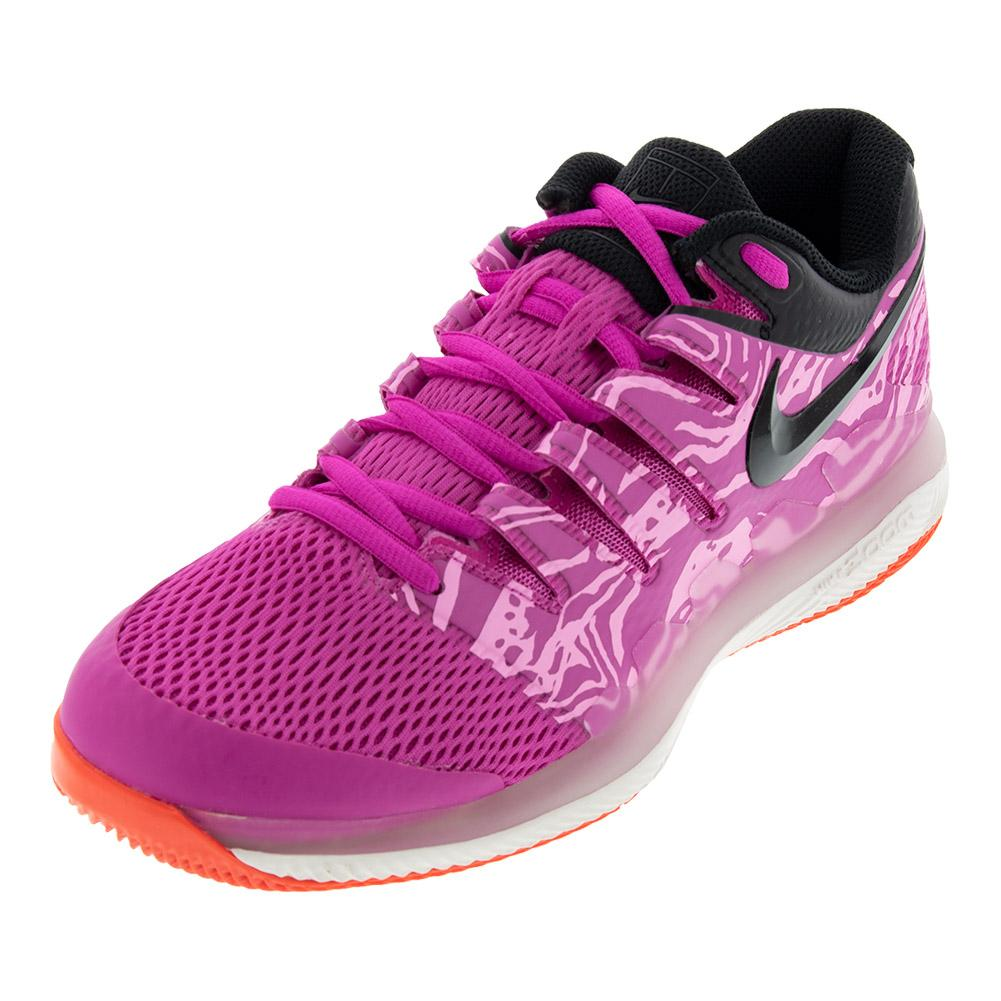 sports shoes a7402 d0c90 Nike Women s Air Zoom Vapor X Tennis Shoes Laser Fuchsia and Black