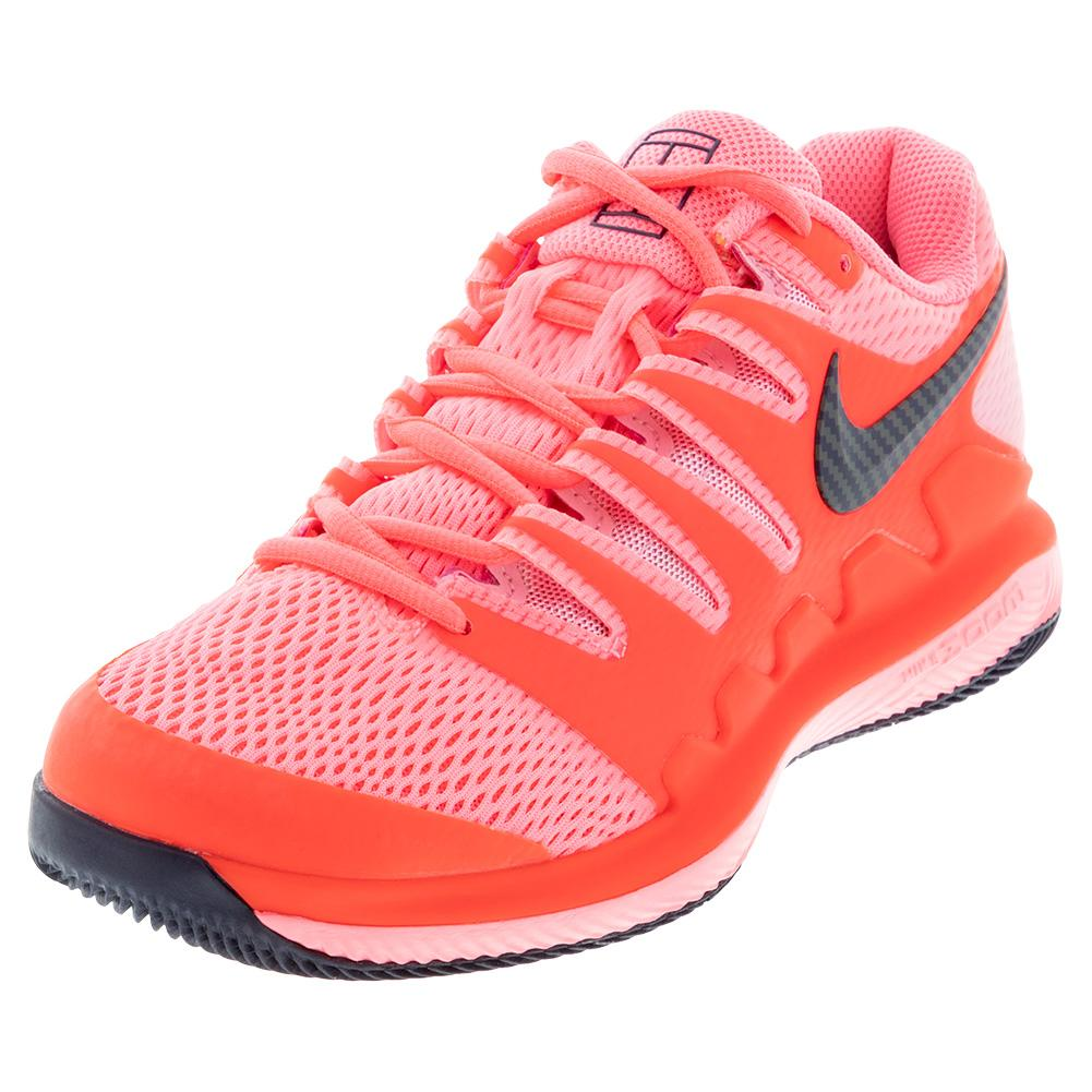 Women's Air Zoom Vapor X Tennis Shoes Laser Crimson And Pink