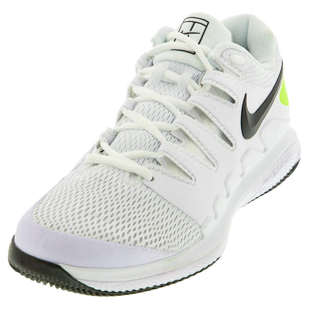 Men's Air Zoom Vapor X Tennis Shoes White And Black