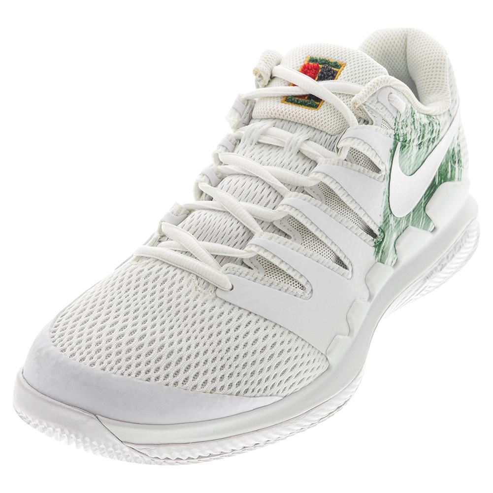 Men's Air Zoom Vapor X Hc Tennis Shoes White And Clover
