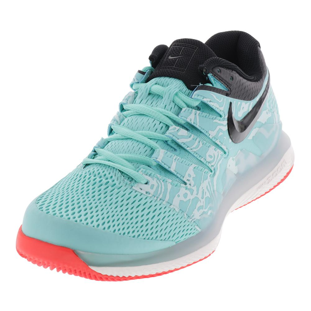 Men's Air Zoom Vapor X Tennis Shoes Aurora Green And Teal Tint