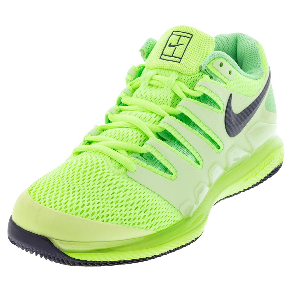 Men's Air Zoom Vapor X Tennis Shoes Ghost Green And Barely Volt