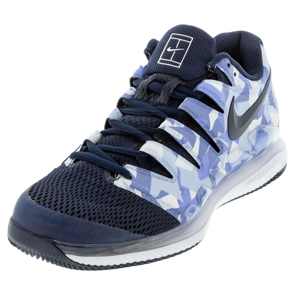 Men's Air Zoom Vapor X Tennis Shoes Royal Pulse And Obsidian